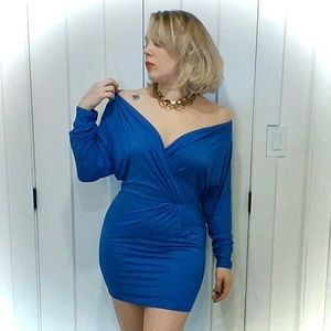 Sexy Haute Hippie Faux Wrap Dress